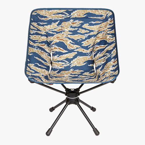 벨크로타이 증정 헬리녹스 Helinox 택티컬 스위블체어  Tiger Stripe Camo  뛰어난 내구성으로 내하중 120kg까지 가능한 인체 공학적으로 설계된 캠핑용 회전 의자