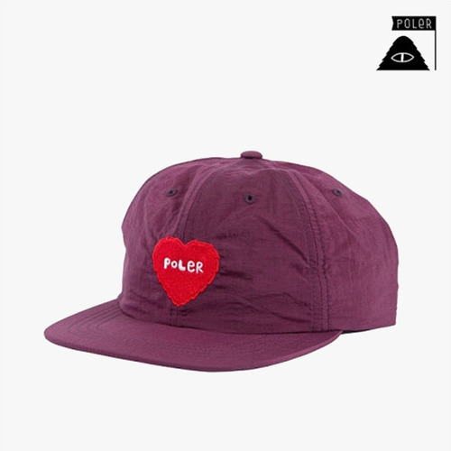 폴러 스터프 스냅백 SNAPBACK - FURRY HEART NYLON FLOPPY - PLUM