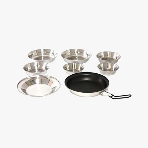 왕초 스텐 식기세트 A형 (8PC) Boss Stainless Dish Set Atype(8PC) NO.A-680