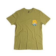 폴러 스터프 POLER STUFF 해피데이즈 POCKET TEE HAPPY DAYZ LICHEN