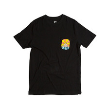 폴러 스터프 POLER STUFF 해피데이즈 POCKET TEE HAPPY DAYZ BLACK